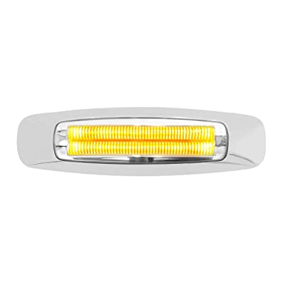 "GG Grand General 74741 Light (5-3/4"" Rectangle Prime Amber/Clear 4 LED Dual Function): Automotive"
