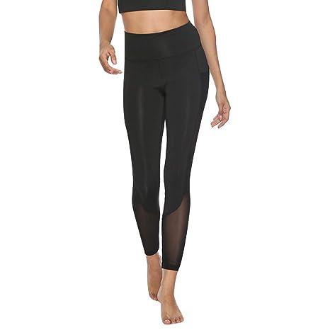QinMM - Pantalones de yoga para mujer, malla, deporte, yoga, moda ...