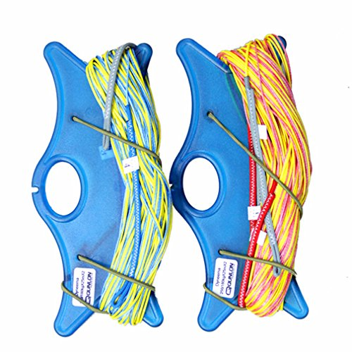 Qunlon 550lb/397lb 82ft Dyneema Quad Kite Line Set for Quad Line Power Traction Kite Control Flying