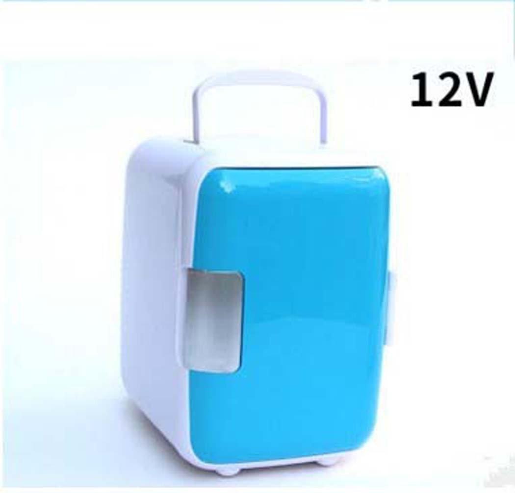 DSHBB Car Fridge Mini,Cooler Warmer Freezers ,home Camping Fridge (Color : Blue)