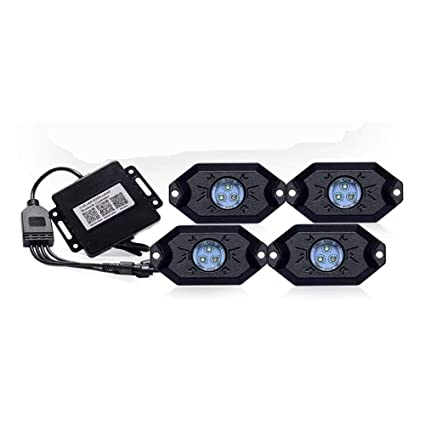 Amazon com: RGB Car Chassis Lights 1 Line Drag 4 LED Lights