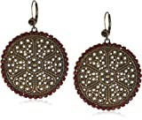 Liz-Palacios-Piedras-Red-Swarovski-Crystallized-Circle-Earrings