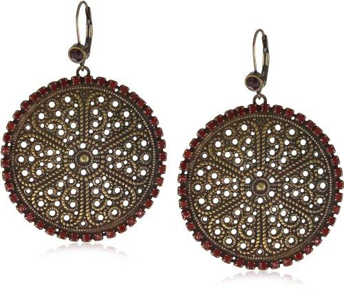 Liz-Palacios-Piedras-Red-Swarovski-Crystallized-Circle-Earrings