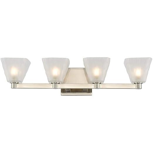 Amazon.com: Baño Vanity 4 lámparas con acabado en níquel ...