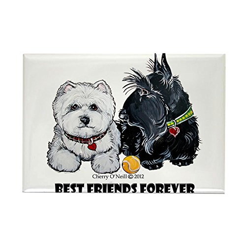CafePress Westie Scottie Best Friends Rectangle Magnet, 2
