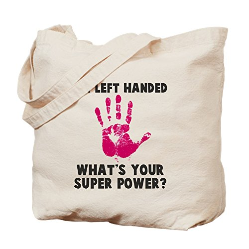 CafePress–zurdos Super Power–Gamuza de bolsa de lona bolsa, bolsa de la compra Medium caqui