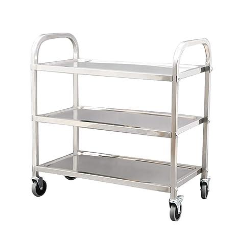 Carrito de té/Hotel Dining Car/Muebles de acero inoxidable Rack de almacenamiento Multi