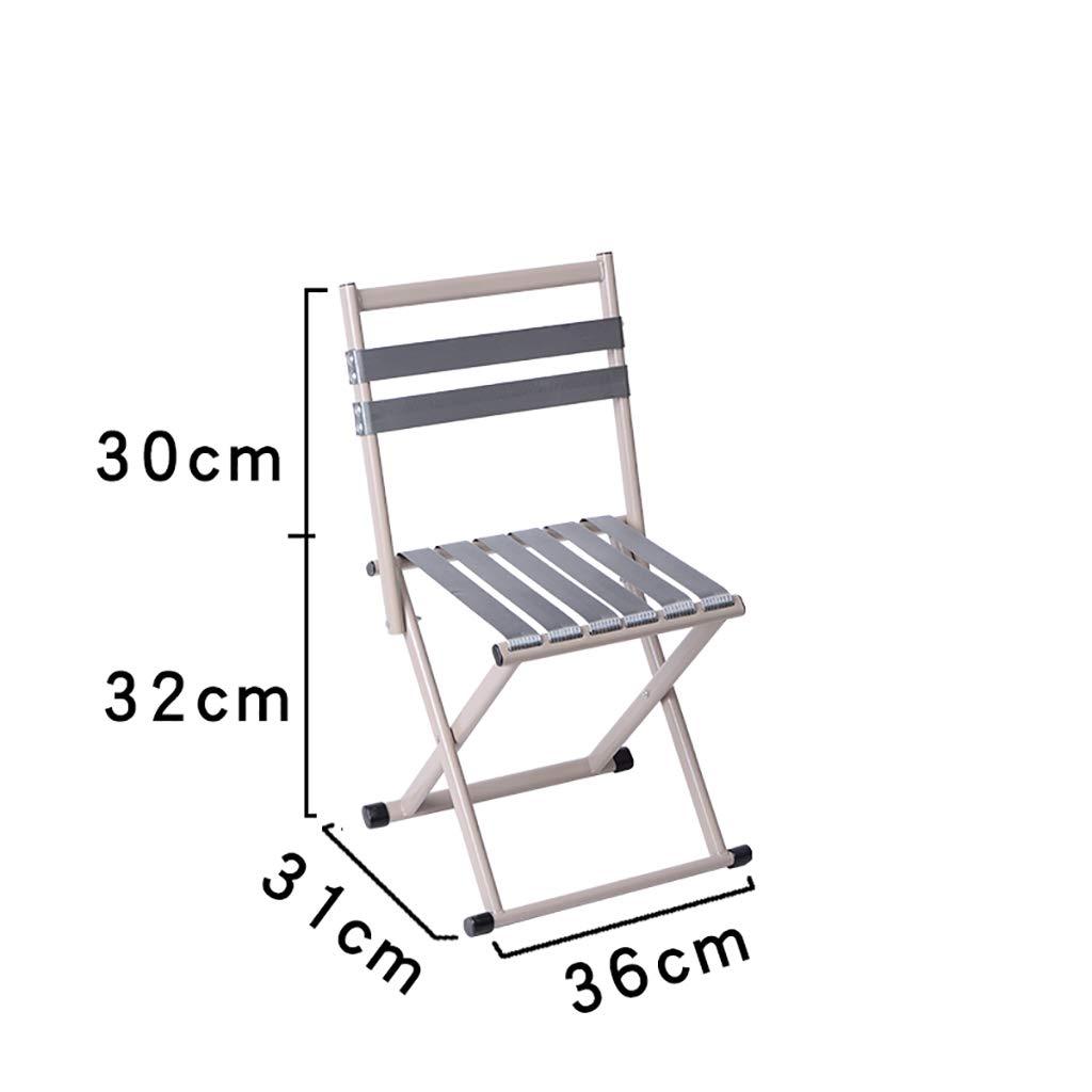 Luggage Racks- Folding metal back outdoor Mazar stool Leisure fishing beach nylon rope stool Multi-function home Hotel luggage rack (Color : C, Size : 313632+30cm)