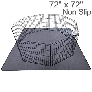 "Upgrade Non-Slip Dog Pads Extra Large 72"" x 72"", Washable Puppy Pads with Fast Absorbent, Reusable, Waterproof for Training, Travel, Whelping, Housebreaking, Incontinence, for Playpen, Crate"