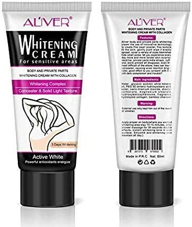 Underarm Whitening Cream, Natural Whitening Cream,Best Gift for Women, Effective for Lightening & Brightening Armpit, Knees, Elbows, Sensitive & Private Areas