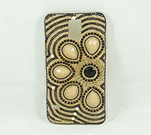 Samsung Galaxy S5 Hard Case with Bling Flower Design