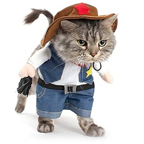 Meeyou Cowboy Pet Costume for Cat & Dog Cosplay (XL) ()