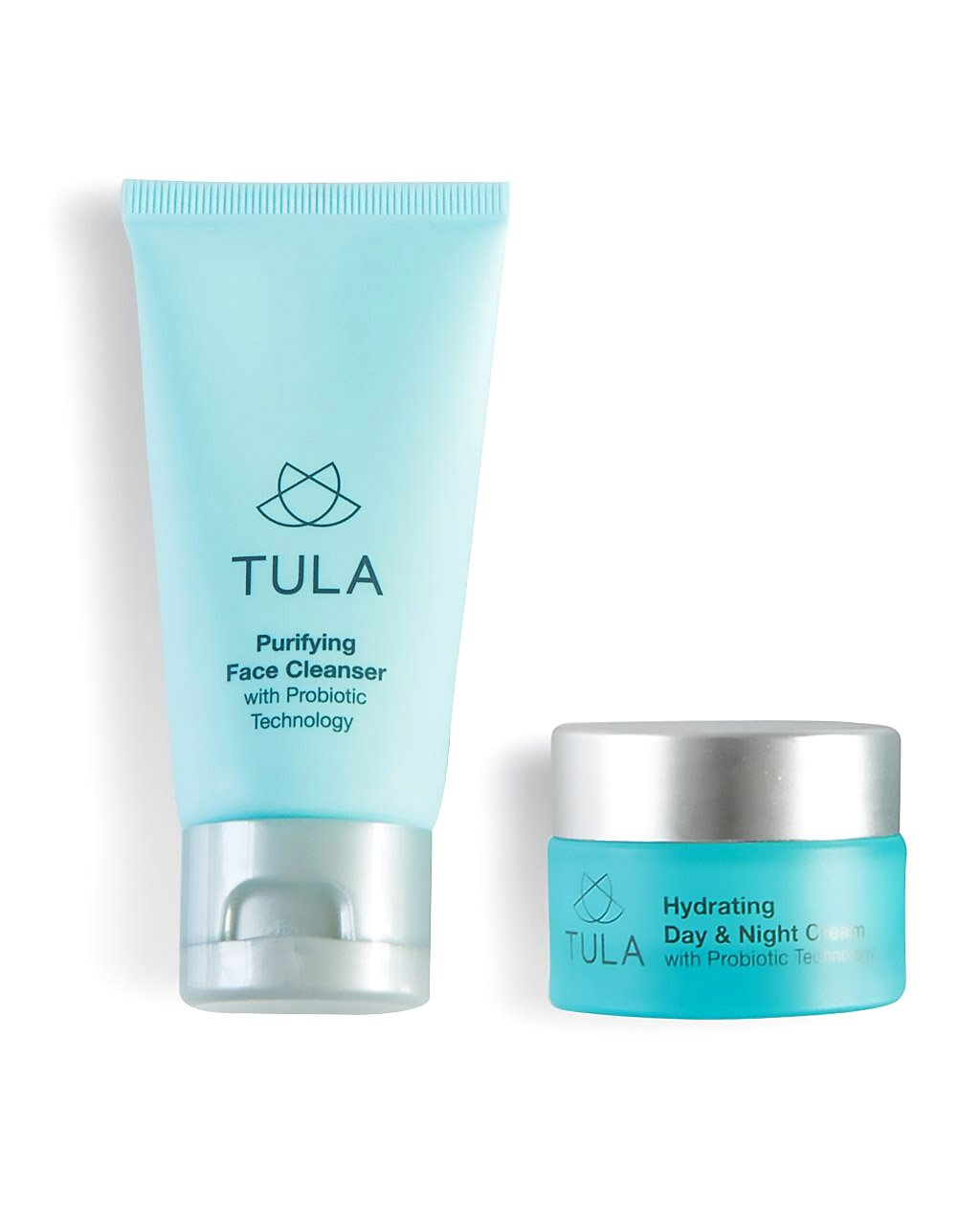 TULA Probiotic Skin Care Mini Best Sellers Kit - Travel-friendly kit with Purifying Cleanser and Mini Hydrating Day & Night Cream for Healthy and Hydrated Skin by TULA Skin Care (Image #1)