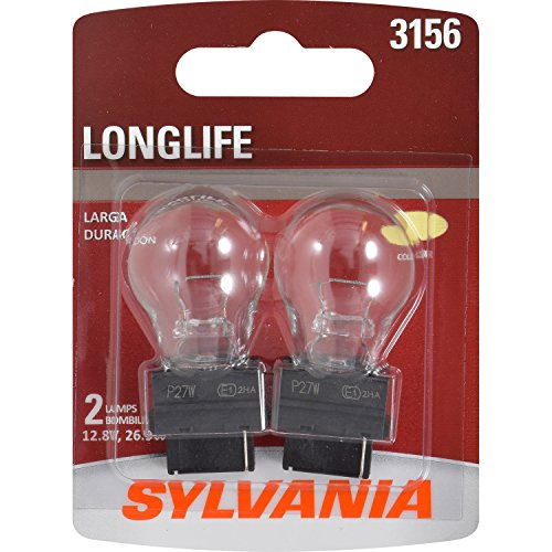 (SYLVANIA - 3156 Long Life Miniature - Bulb, Ideal for Daytime Running Lights (DRL) and Back-Up/Reverse Lights (Contains 2 Bulbs))