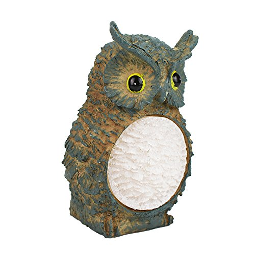 Advanced bird Scarecrow owl decoy, solar Scarecrow steering - birds, mice, squirrels, rabbits and other SM pests drive the new corner - Squirrel Light Landscape Path