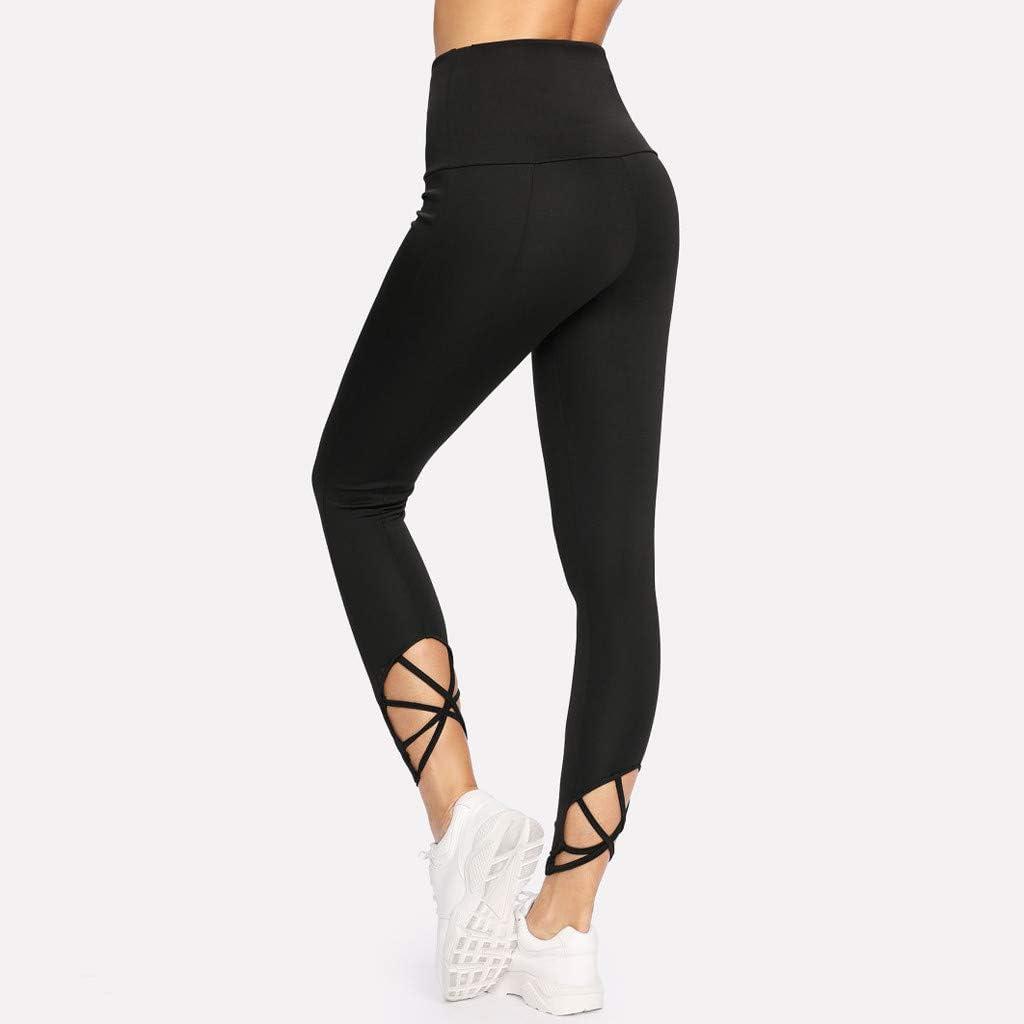 CapsA Womens High Waisted Workout Capri Leggings Tights Athletics Workout Reflex Power Flex Tummy Control Leggings