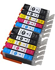 Ink Choice 10 Pack Compatible Ink Cartridge For Canon PGI-270XL CLI-271XL (2 Black,2 Cyan,2 Magenta,2 Yellow,2 Big Black) For Printer Pixma MG7720,MG6820,MG6821,MG6822,MG5720,MG5722,MG5721 Printer