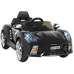 Best Choice Products 12V Kids Battery Powered Remote Control Electric RC Ride-On Car w/ MP3 and AUX - Black