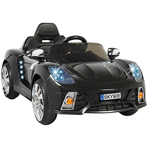 Best Choice Products Kids 12V Ride On Car with MP3 Electric Battery Power Remote Control, Black (Kids Battery 12 Volt Cars Powered)