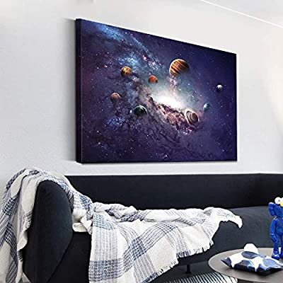 Canvas Wall Art Galaxy System Modern Home Decor Canvas Painting Wall Decoration for Bedroom Living Room 16x24 inches