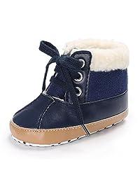 Binmer(TM) Toddler Baby Girls Boys Soft Sole Leather Warm Crib Anti-slip Snow Boots