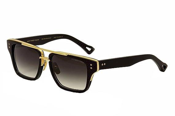 3d8fb6f4b8 Dita Mach Three DRX-2059-A DRX-2059A Matte Black 18K Gold Retro Sunglasses  55mm  Dita  Amazon.co.uk  Clothing