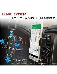2 en 1 10W Cargador de Coche Inalámbrico para Teléfonos Qi Enableable   Soporte de Coche Soporte de Teléfono Gravity Fast   Compatible con iPhone Xs X 8 Samsung Galaxy S9 S8 S7