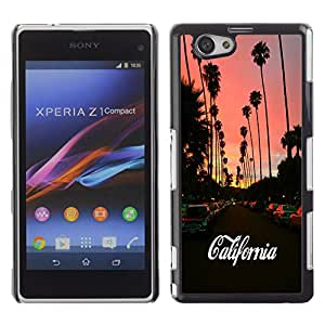 - California Funny - - Hard Plastic Protective Aluminum Back Case Skin Cover FOR Xperia Z1 Compact D5503 Queen Pattern
