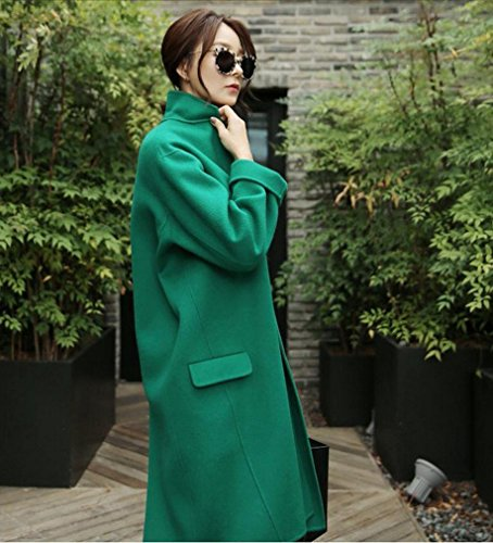 Thin Autumn Green Winter Green Women It Long Cocoon Loose and Loose Jacket 'S WYF is Coat fqS0w40