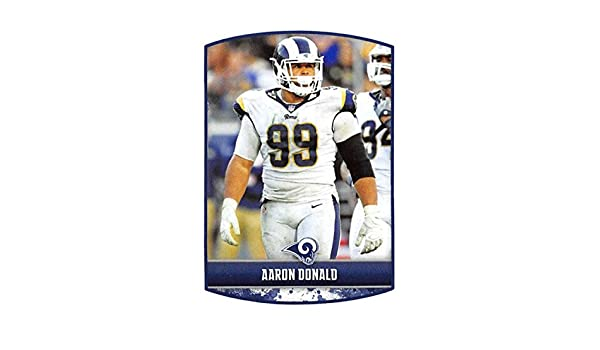 Amazon.com  2018 Panini NFL Stickers Collection  405 Aaron Donald Los  Angeles Rams Official Football Sticker  Collectibles   Fine Art 05fc793d6