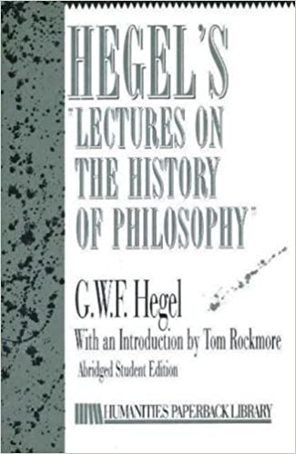 Book Hegel's Lectures on the History of Philosophy by G. W. F. Hegel (1989-02-01)