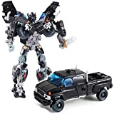 Kiditos Transformers Ironhide Robot To Truck Converting Figure Toy For Kids - Black