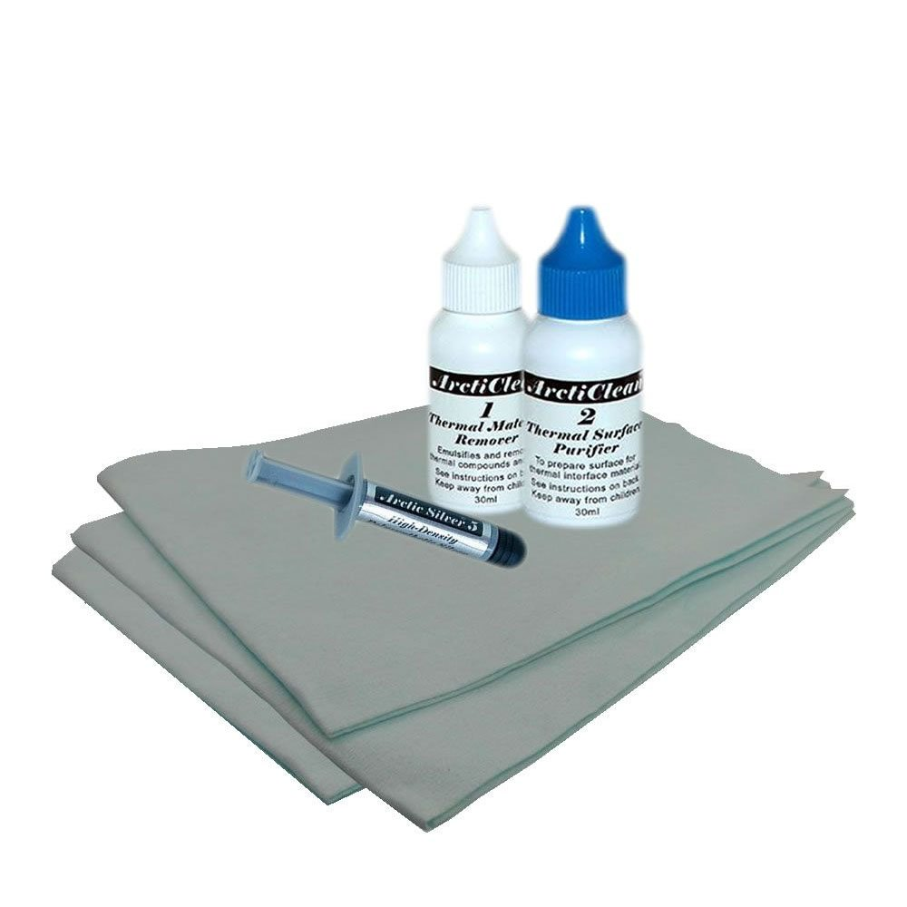 Arctic Silver 5 3.5g Thermal Paste and Arcticlean value pack with SHL cloths