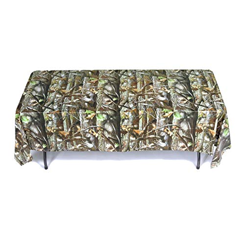 Camouflage Table Cover Plastic (Havercamp Hunting Camo Party Collection Camo Table Cover (54