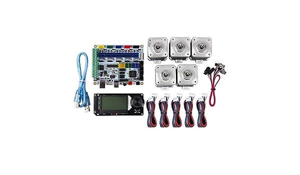 Semoic Placa Base de Impresora 3D F5V1.1 + 12864 LCD + 42 Motor ...