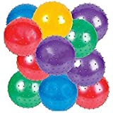 "4E's Novelty Knobby Balls, 5"" L x 5"" W, 12 Pack"