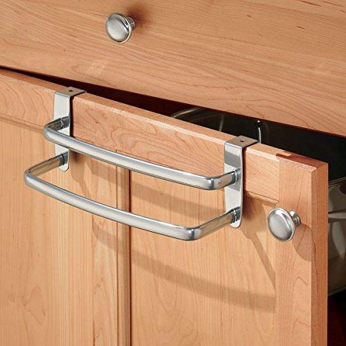 Kitchen Cabinet Towel Holder: MDesign Over-the-Cabinet Kitchen Dish Towel Holder With