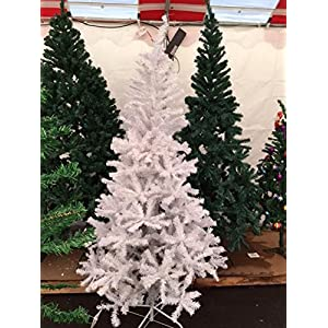 Perfect Holiday Unlit Artificial Christmas Tree, 7-Feet, Crystal White 51