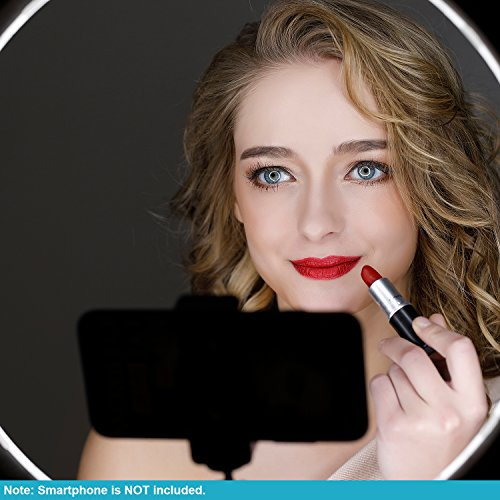 """Neewer RL-12 LED Ring Light 14"""" outer/12 on Center with Light Stand, Soft Tube, Filter, Carrying Bag for Makeup, YouTube,TikTok,Camera/Phone Video Shooting"""