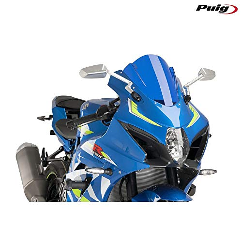 Puig 17-18 Suzuki GSXR1000 Racing Windscreen (3mm) (Blue)