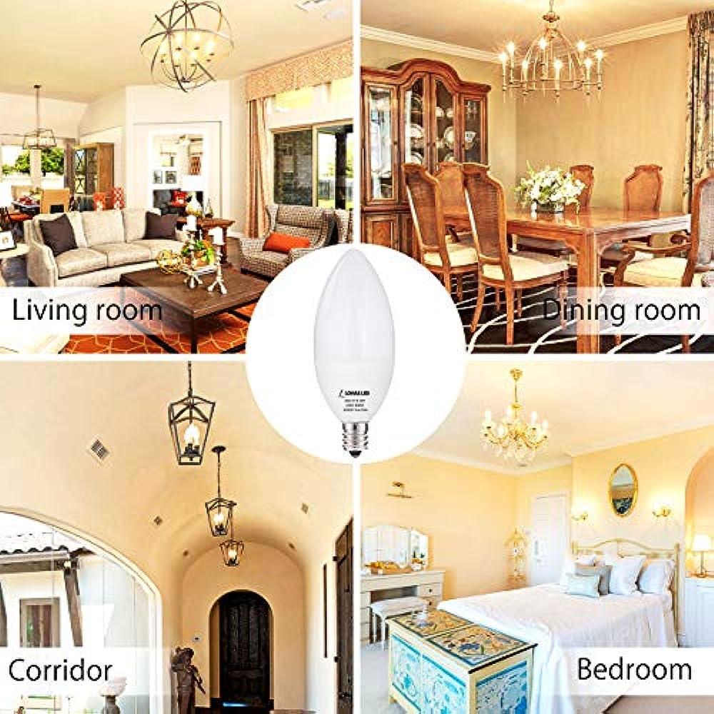 E12 LED Candelabra Light Bulb, 6W60W, Daylight 5000K ...