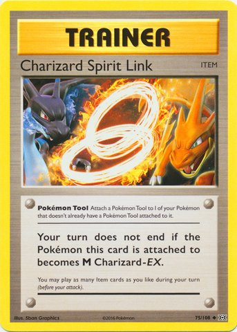 Pokemon - Charizard Spirit Link (75/108) - XY - Link Pokemon