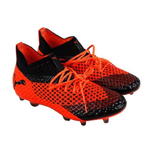 PUMA Future 2.1 Netfit Fg Ag Mens Orange Synthetic Soccer Cleats Shoes 9.5
