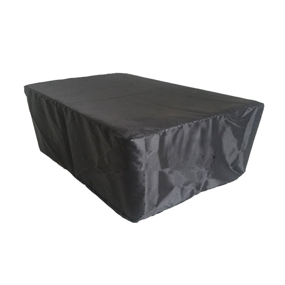 Moinco Patio Outdoor Protective Sofa Cover Garden Furniture Cover All Weather Drawstring-Medium Black
