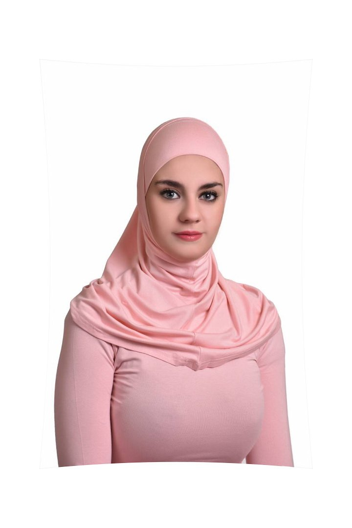 Dusty Rose Al Ameera Muslim Hijab Cotton Amira 2 Piece Hood & Hijab Tube Underscarf Cap