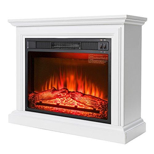 akdy wall mount 36 1500w adjustable heater electric fireplace w led backlights log set 2. Black Bedroom Furniture Sets. Home Design Ideas