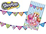 Shopkins Table Cover & Happy Birthday Banner Bundle