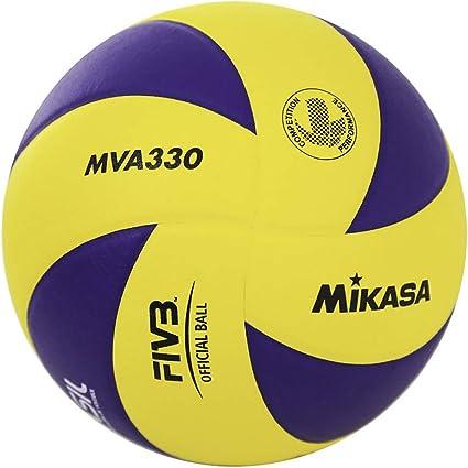 MVA 330 - Pelota de Voleibol, Color Amarillo y Azul Talla:5 ...