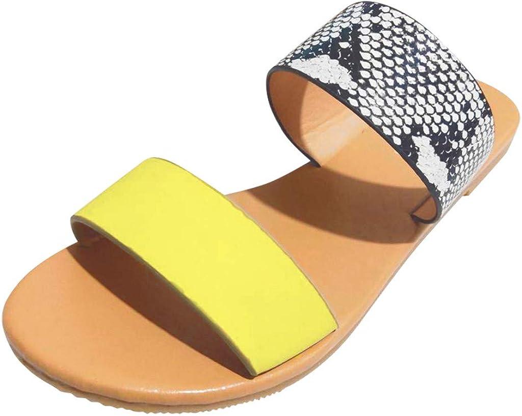 Ladies Casual Monochrome Plus-Size Flat Slippers Shoes Hot! Women Vintage Roman Sandals GoodLock TM