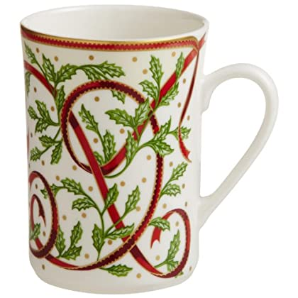 Image of Coffee Cups & Mugs Pickard'Winter Festival' Fine China 10-Ounce Mug, Set of 4
